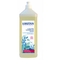 Lerutan Liquide vaisselle Ultra-concentrée Ultra-dégraissant Citron 1L Nature et progrès Les copines bio