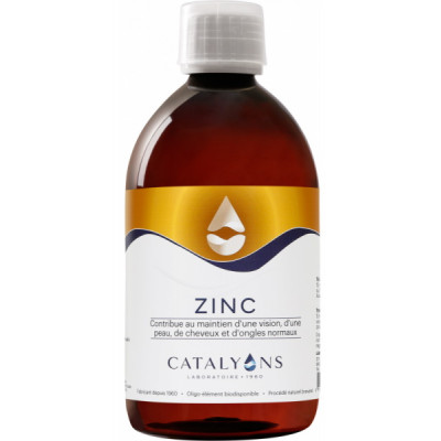 Catalyons Oligo élément ZINC défenses 500 ml immunité défenses les copines bio