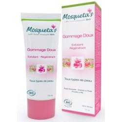 Mosqueta's Gommage doux à la Rose Musquée et Poudre de Riz 75ml  produit de soin gommant du visage ou du corps Les Copin