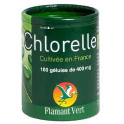Flamant Vert Chlorelle 180 gélules de 400 mg Origine france Les copines bio