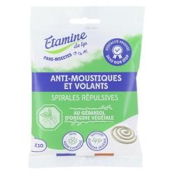 Etamine du Lys 8 spirales Anti Moustique Ecocoil x8 Insecticide naturel Les Copines Bio
