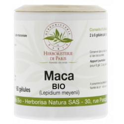 Herboristerie de paris Maca Racine Bio 500mg 60 gélules vigueur vitalité ménopause Les copines bio