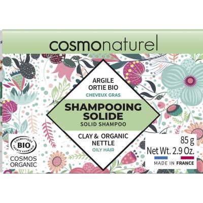 Cosmo Naturel Shampooing solide Cheveux Gras 85gr barre de savon écologique les copines bio