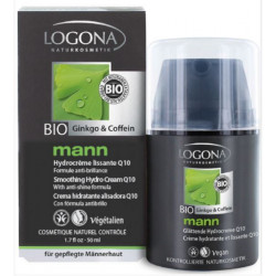 Logona Crème Hydratante Lissante Q10 Logona Mann 50ml produit de soins Hydratants visage Les Copines Bio