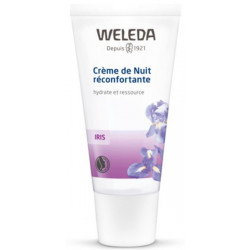 Weleda Crème de nuit réconfortante à l'Iris hydrate et ressource 30ml régénération Les copines bio