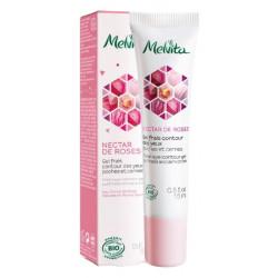 Melvita Gel frais contour des yeux Nectar de rose 15 ml anti poches anti age anti cernes les copines bio