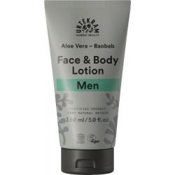 Urtekram Lotion hydratante corps et visage homme aloe vera baobab 150ml produit de soin Peaux Normales Les Copines Bio