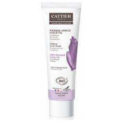 Cattier Masque anti fatigue argile violette 100ml actifs revitalisants de fruits dynamisme de la peau Les copines bio