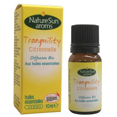 Naturesun Aroms Diffusion Tranquility Anti-moustiques 10 ml citronnelle Les copines bio