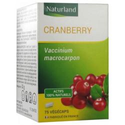 Naturland Cranberry 75 Végécaps Canneberge  Complément alimentaire Les Copines Bio