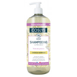 Shampooing ultra doux cheveux normaux à la reine des prés bio Coslys Les copines bio