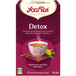 Yogi Tea Infusion Détox 17 infusettes produit alimentaire pour préparation d'infusion Les Copines Bio