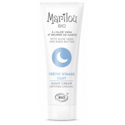 Marilou Bio Crème de nuit  30ml produit de soin pour le visage Les Copines Bio