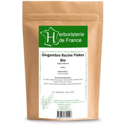 Tisane Gingembre racine BIO 30 gr Herboristerie de paris digestion tonus vitalité Les copines bio