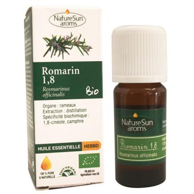 Naturesun' aroms Huile essentielle Romarin 1,8 cinéole 10 ml complément alimentaire Les copines bio