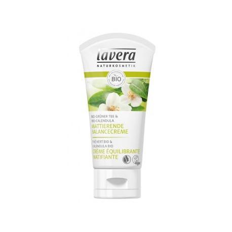 Lavera Crème équilibrante matifiante thé vert bio 50 ml peaux mixtes et grasses