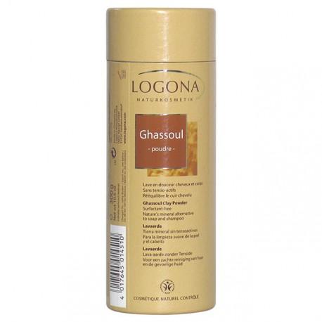 Logona Ghassoul poudre 300 gr purifiant de la peau les copines bio