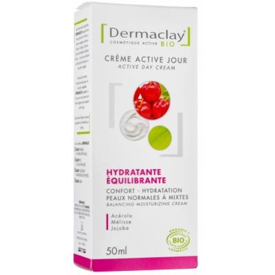 Dermaclay Crème Active Jour hydratante équilibrante 50ml cosmétique bio les copines bio