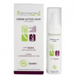 Dermaclay Crème Active Jour 1ères Rides 50 ml cosmétique bio anti-âge les copines bio