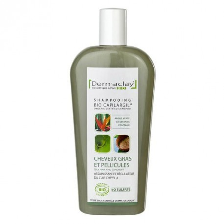 Dermaclay Shampooing Cheveux Gras 250 ml les copines bio