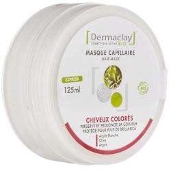 Dermaclay Masque Capillaire Cheveux Colorés, Décolorés, Méchés 125 ml les copines bio