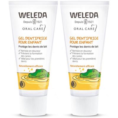 Duo Dentifrice dents de lait Enfants Weleda - dentifrice bio enfants Les copines bio