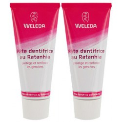 Weleda Duo Dentifrice Ratanhia - 2x75ml, dentifrice bio et naturel