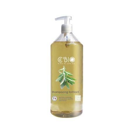 Shampooing fortifiant Sauge Citron - 1 L - Aux huiles essentielles bio