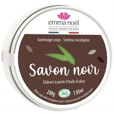 Emma Noël Savon Noir Hammam à l'Eucalyptus 200gr les copines bio
