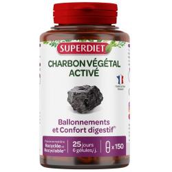 Super Diet Charbon végétal 150 gélules les copines bio