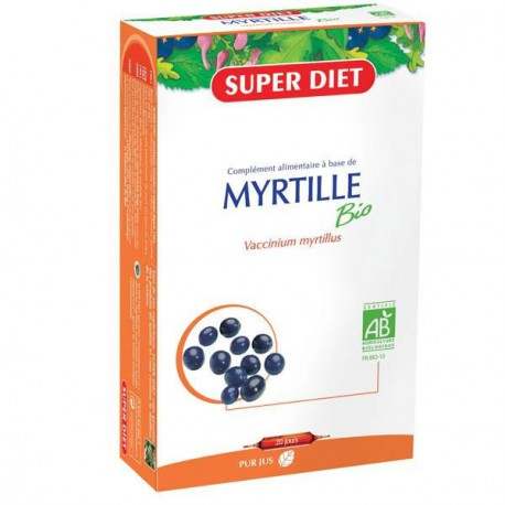 Super Diet Myrtille bio 20 ampoules de 15 ml les copines bio