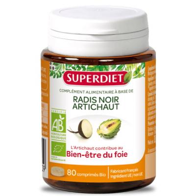 Super Diet Radis noir Artichaut 80 comprimés les copines bio