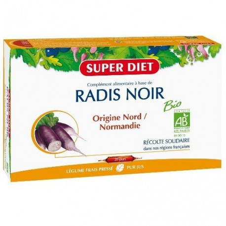 Super Diet Radis noir 20 ampoules de 15 ml les copines bio