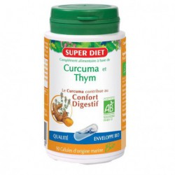 Super Diet curcuma thym bio 90 gélules les copines bio