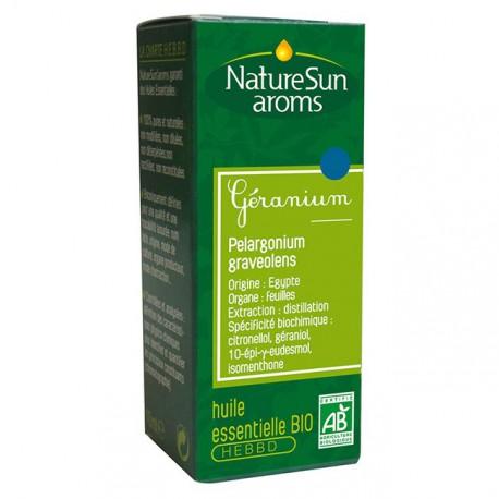 Naturesun Aroms Huile essentielle de géranium 10 ml les copines bio