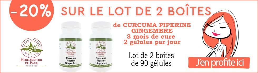 curcuma piperine herboristerie de paris -20 pourcent
