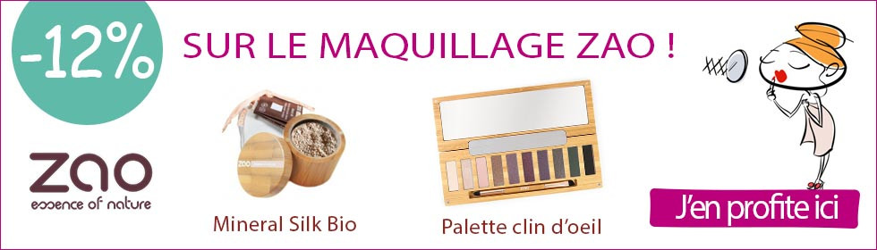 maquillage bio ZAO