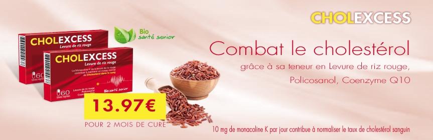 cholexcess cure de 2 mois levure de riz rouge